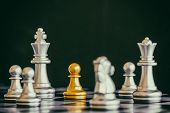 Strategy Chess Battle Intelligence Challenge Game On Chessboard. Success The Strategy Concept. Chess poster