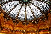 Lafayette luxury shopping mall in Paris