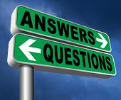 questions answers ask the right question and get an answer help or support desk solve problems and f poster