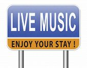 music live stream radio music or listen live on air broadcasting songs program road sign 3D, illustr poster
