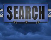 Search button searching information online find info on the internet 3D, illustration poster