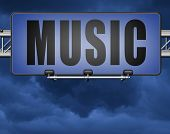 Music to play and to listen live stream or for download song 3D, illustration poster