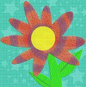 Scrapbook kitsch estilo Tie Dye textura flor