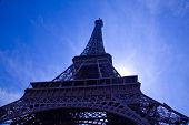 Looking up to the Eiffel Tower in Paris