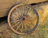 Broken Stagecoach Wheel, Landscape View (centered)