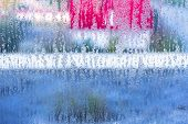 Autumn Mood, Condensation On The Glass, Temperature Drop. Window Glass With Condensation, Strong, Hi poster
