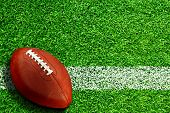 Football On Field With Copy Space poster