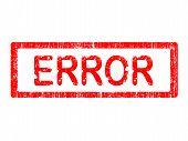 Grunge Office Stamp - Error
