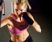 Постер, плакат: Женщина бокс в тренажерный зал