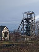 picture of cheval  - Trelaze old slate mine chevalement - JPG