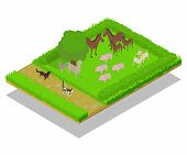 Domestic Animal Concept Banner. Isometric Banner Of Domestic Animal Concept For Web, Giftcard And Po poster