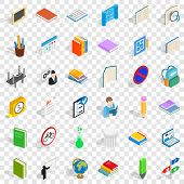 College And School Icons Set. Isometric Style Of 36 College And School Icons For Web For Any Design poster