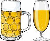 beer mug and glass