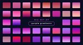 Vibrant Set Of Purple And Pink Gradients poster