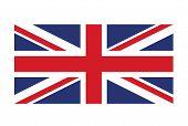 United Kingdom Flag Vector Image, Union Jack, Symbol Of Great Britain poster