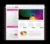 Colorful website template in editable vector format