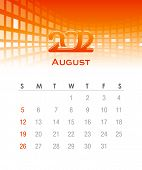 Colorful monthly vector calendar for 2012 with abstract background