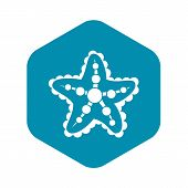 Starfish Icon. Simple Illustration Of Starfish Vector Icon For Web poster