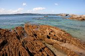 Photo of the Galician coast at low tide