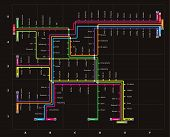 Editable Vector Subway Map