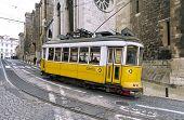 Yellow Lisbon Tram 28