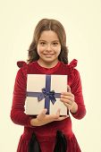 Every Girl Dream About Such Surprise. Birthday Girl Carry Present With Ribbon Bow. Art Of Making Gif poster
