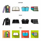 Isolated Object Of Library And Textbook Sign. Collection Of Library And School Vector Icon For Stock poster