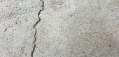 Crack In Concrete. Cracked Foundation. Cracked Road. poster