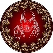 Calligraphic, Shirdi Sai Baba, was an Indian guru, yogi and fakir who is regarded by his Hindu and Muslim followers as a saint
