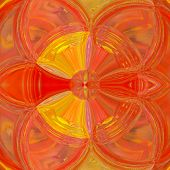 Illusory Psychedelic Background With Stained Glass Effect, In Autumn Colors: Yellow And Orange poster