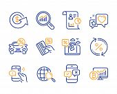 Call Center, Report And Car Leasing Icons Simple Set. Data Analysis, Dollar Exchange And Heart Signs poster