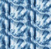 Tie-dye Pattern Of Indigo Color On White Silk. Hand Painting Fabrics - Nodular Batik. Shibori Dyeing poster