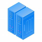 Server Case Icon. Isometric Of Server Case Vector Icon For Web Design Isolated On White Background poster