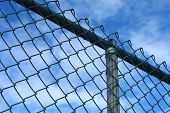stock photo of chain link fence  - A chain - JPG