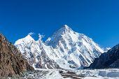 K2 Mountain Peak, Second Highest Mountain In The World, K2 Trek, Pakistan, Asia poster