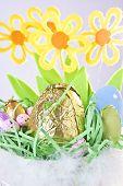 Close-up Of Easter Basket