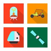 Bitmap Design Of Mars And Space Symbol. Collection Of Mars And Planet Stock Bitmap Illustration. poster