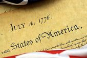 pic of preamble  - Constitution of the United States and American Flag - JPG