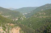 Wild Valley Near The Valley Of Qadisha. Valley Of Qadisha, Lebanon poster