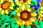 picture of stained glass  - The stained - JPG