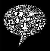 Social Media Talk Bubble Concept