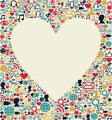 Social media heart texture