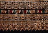 Traditional Hand-woven Fabrics In Thai Style