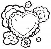 stock photo of frilly  - frilly heart cartoon - JPG