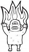 assustador ogro fogo Cartoon