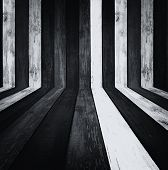 Monochrome Wooden Room As Background