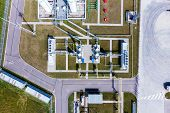 Aerial View Of Liquid Chemical Tank Terminal, Storage Of Liquid Chemical And Petrochemical Products poster
