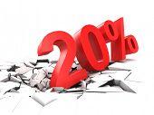 20 percent discount breaks ground