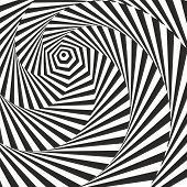 image of mobius  - Black and white optical illusion - JPG
