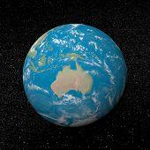 Oceania On Earth - 3D Render